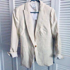 BRAND NEW J.Crew linen blazer in flax